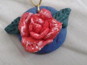 Роза из теста