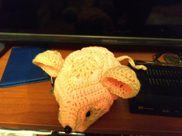 Мягкая Вязаная игрушка Мышь