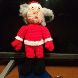 Мягкая Вязаная игрушка Санта