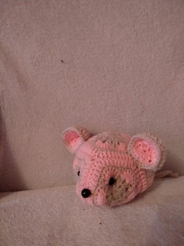 Мягкая Вязаная игрушка Мышь проф
