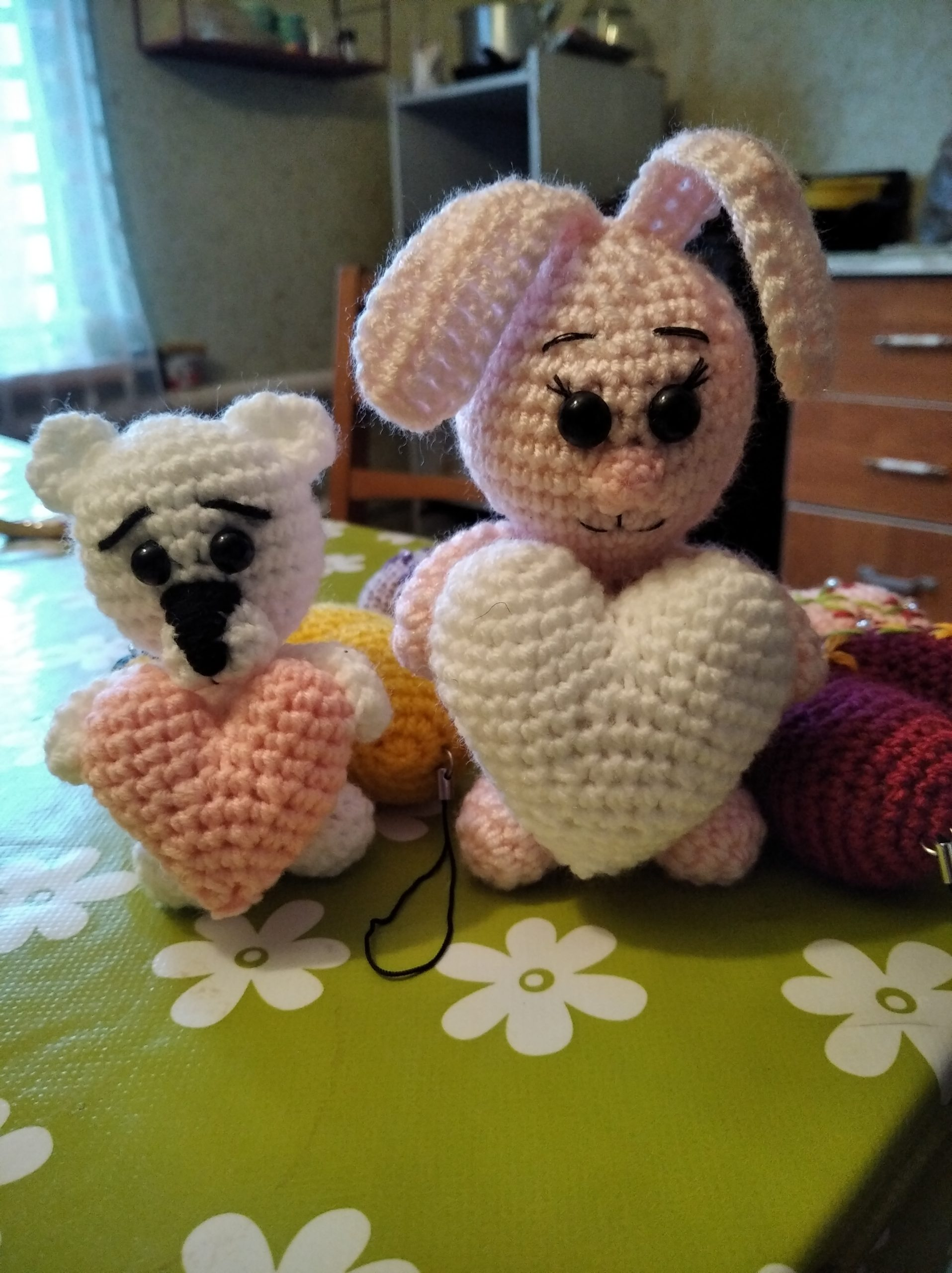 Мишка и Зайка Валентинки