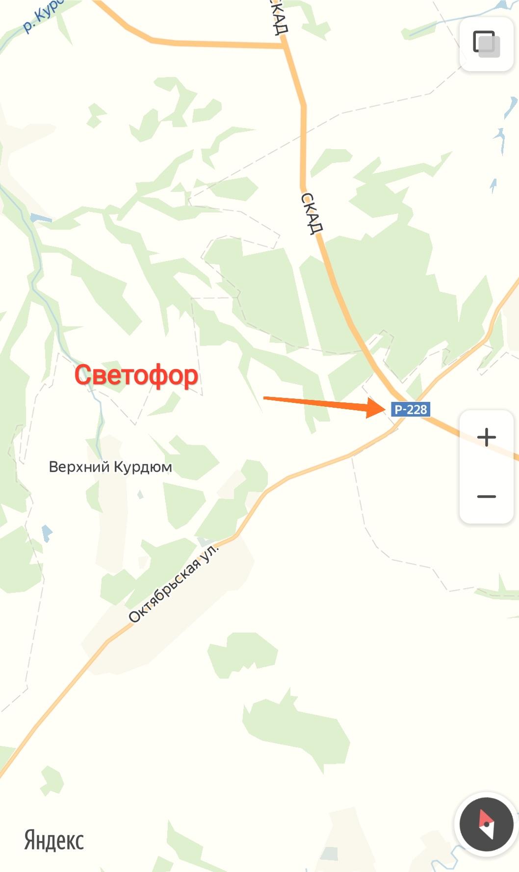 Новый светофор на Саратовской кольцевой автодороге